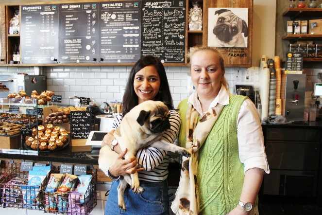 organisers at pop up pug cafe