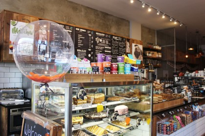 counter of treats at pop up pug cafe