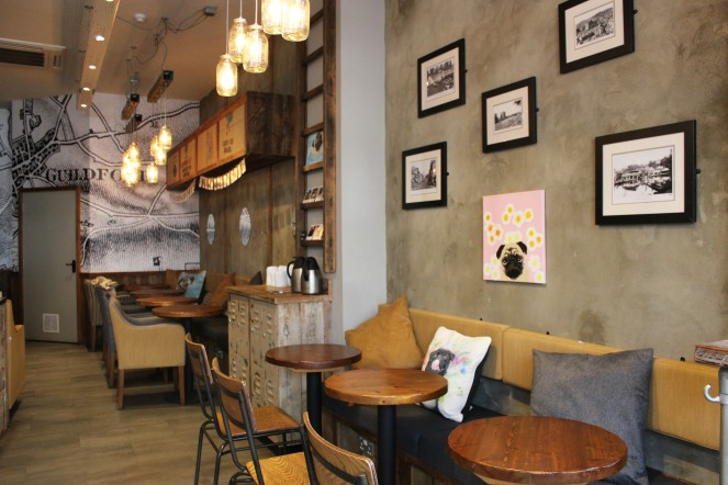 inside the pop up pug cafe