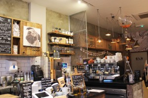 counter at pop up pug cafe