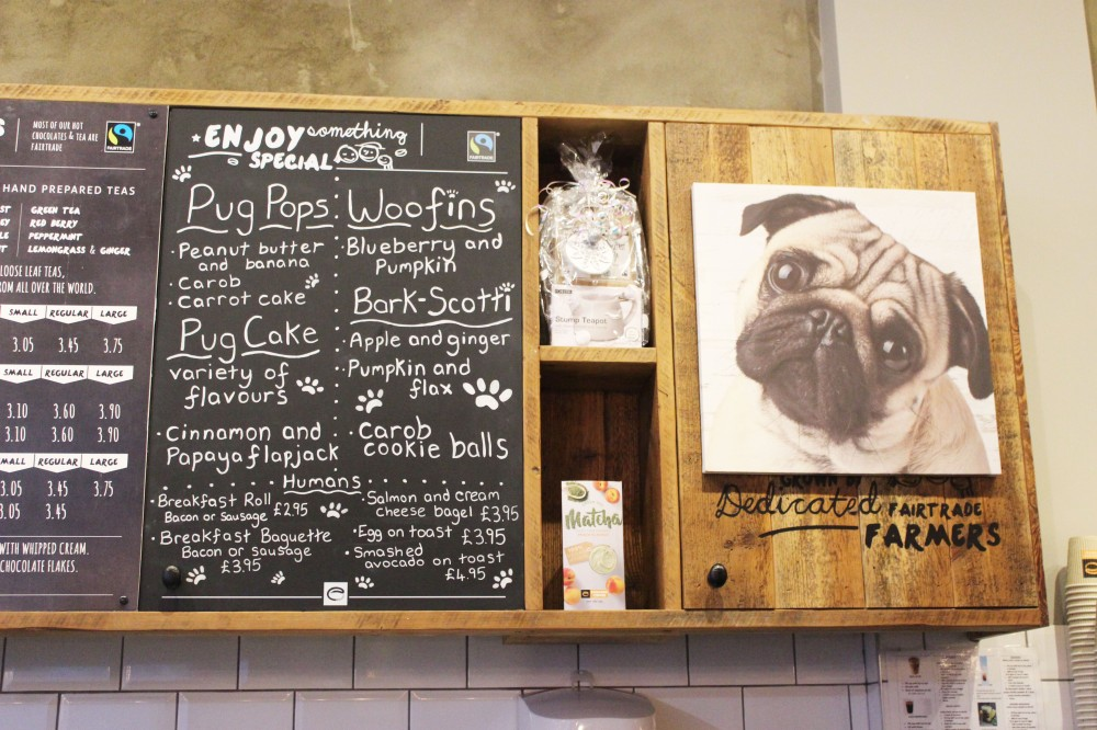 Pop Up Pug Cafe Menu