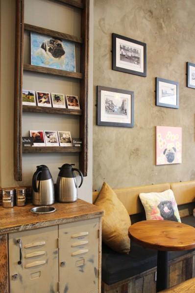 sugar station at pop up pug cafe
