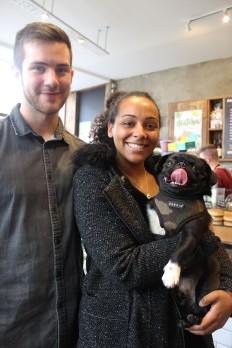 pug lovers at pop up pug cafe