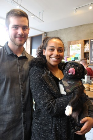 pug lovers at pop up pug cafe