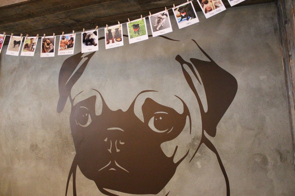 Pug Cafe Wall Sticker Bunting