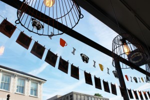 pug bunting at pop up pug cafe