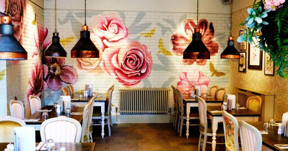 florist bristol pug cafe inside restaurant